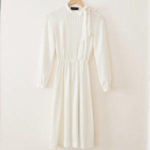 Vintage Union Made Cream Long Sleeve Dress